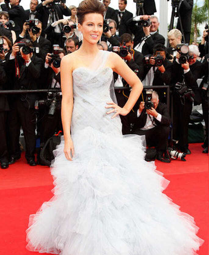 Kate Beckinsale en Marchesa - Cannes 2010