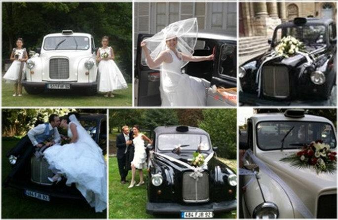 Voiture de mariage taxi anglais