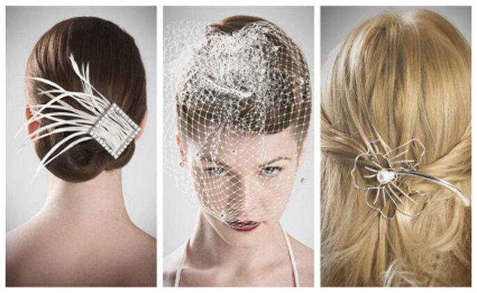 Tres elegantes propuestas de peinados de novia. Ángela Navarro