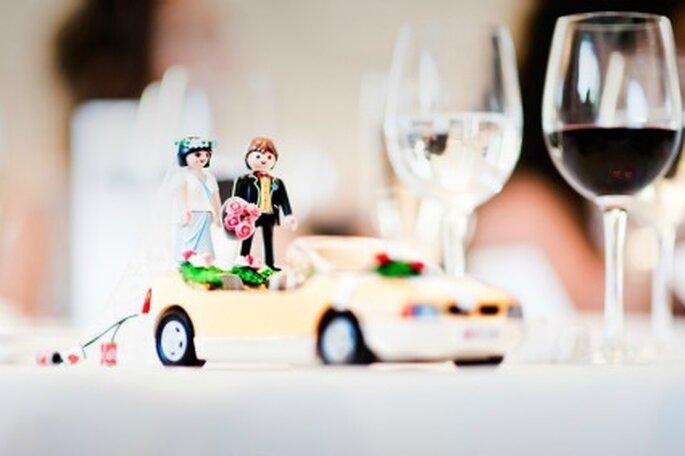Los novios de la tarta un tanto peculiares- Foto: Víctor Lax