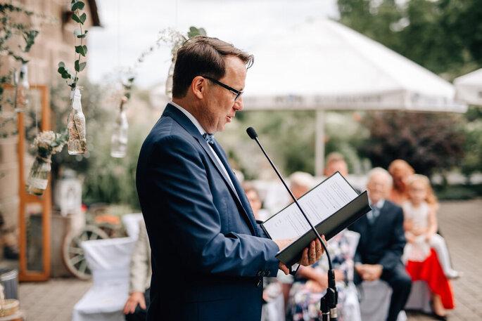 Andreas Schaufler bei der Rede.