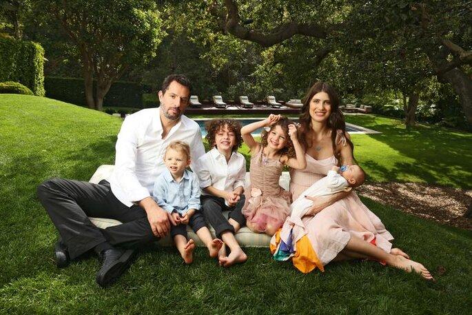 Michelle Alves, Guy Oseary e seus quatro filhos