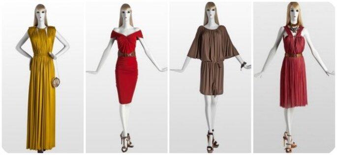 Robes fluides et plissées avec ceinture, couleurs chaudes : telle est la collection Lanvin 2012