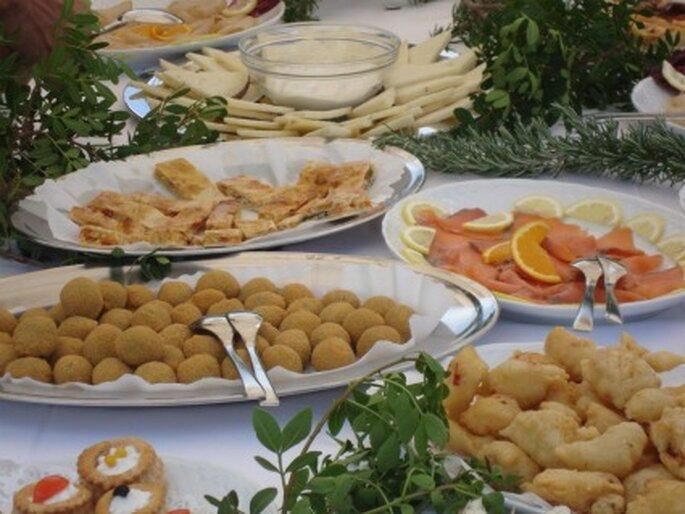Entrantes típicos en una boda sarda