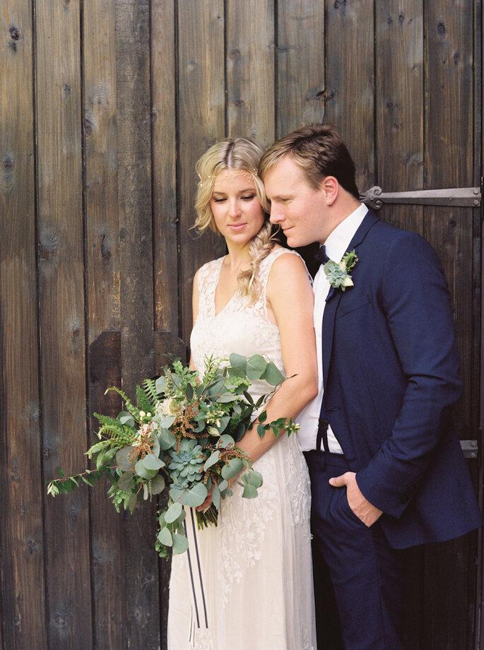 14 formas para combinar con tu novio el día de la boda - Ashley Bosnick Photography