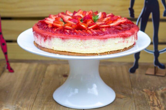 lindo cheesecake para casamento