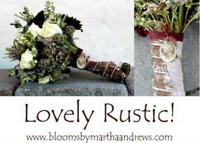 Bouquet rustici. Foto: www.bloomsbymarthaandrews.com