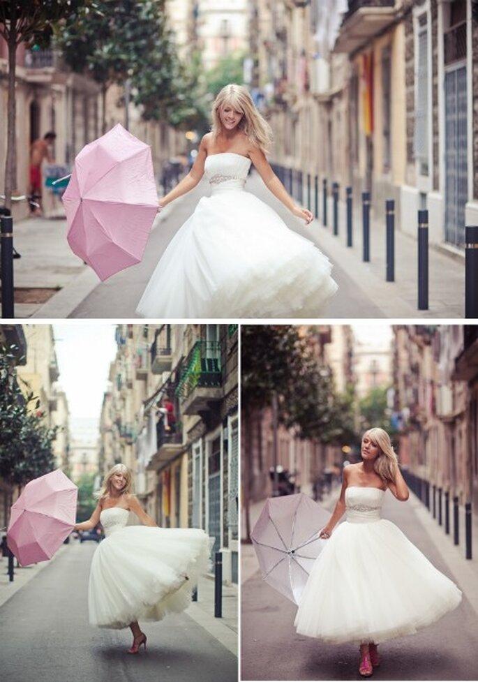 Siate felici e raggianti, spose... Anche se piove! Foto: Rosa Clarà