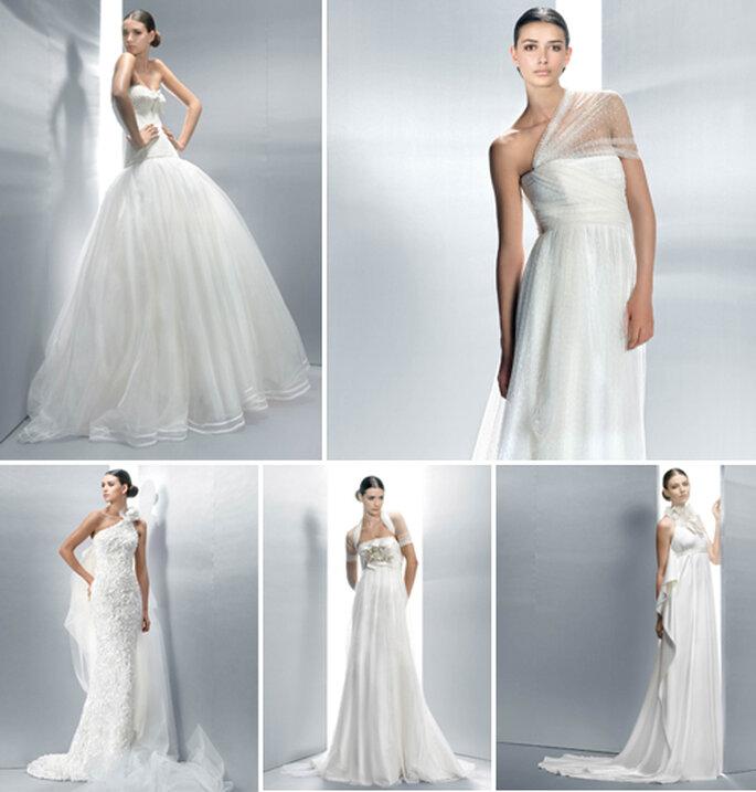 A sirena,principesco,taglio impero...molti stili per una sposa sempre femminile e chic. Collezione 2012 Jesus Peiro