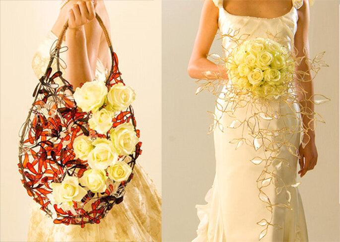 Bouquet originale di ispirazione orientaleggiante...