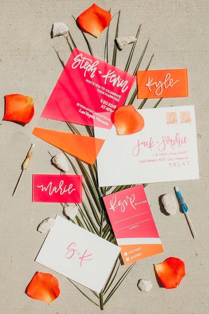 Hochzeitseinladungen Trends Acryl