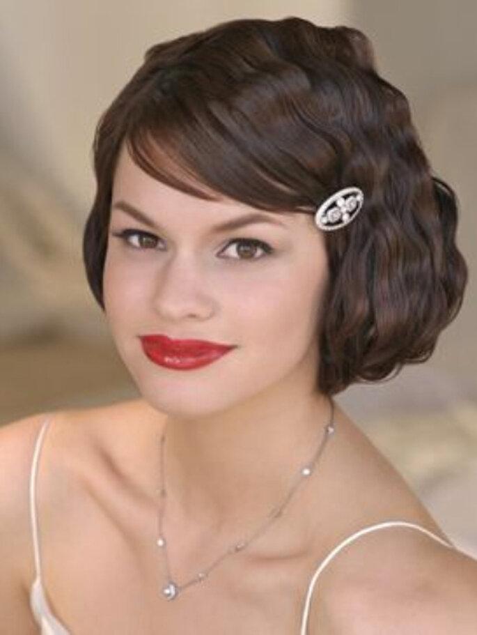 Otra de las tendencias para 2011 es el peinado de novia con ondas