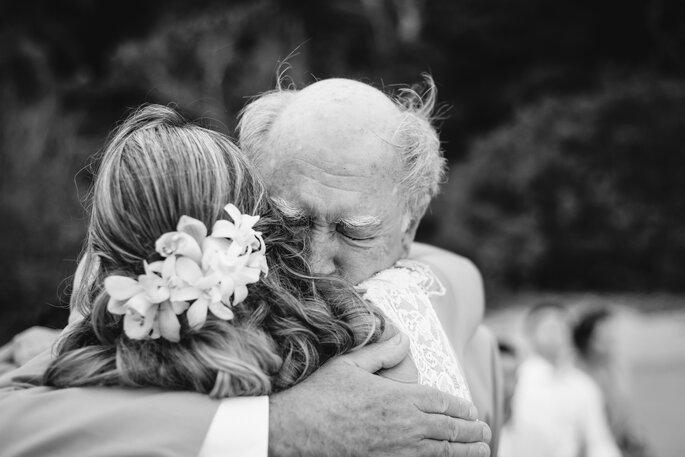 Abraço pai da noiva