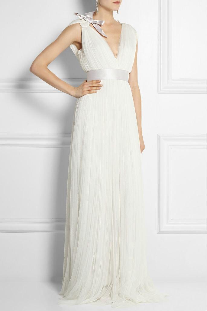 vestido lanvin con lazo