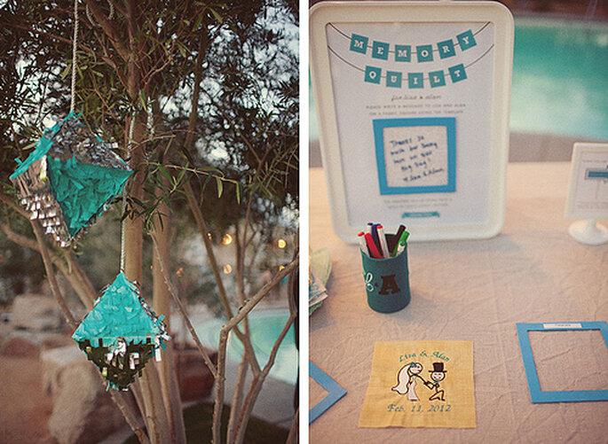 Las ideas DIY son las mejores aliadas de una boda ecológica. Fotos de One Love Photo