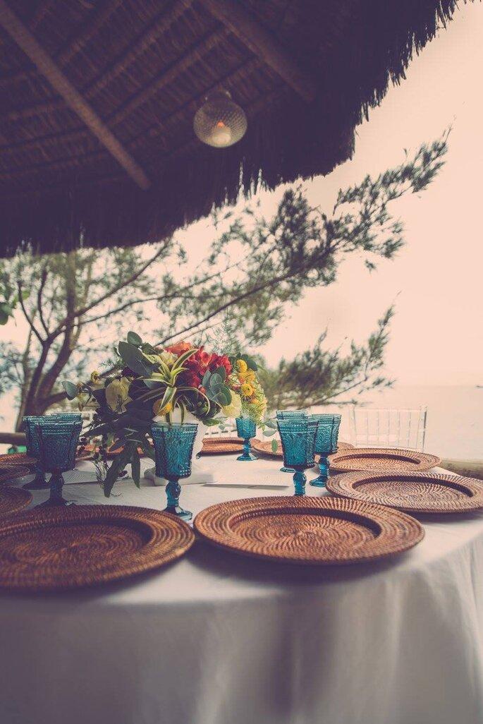 Mesa e copos