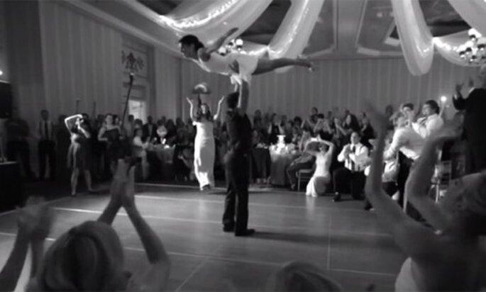 Coreografía de Dirty Dancing para tu primer baile de bodas - Foto Joe Pollock Films YouTube