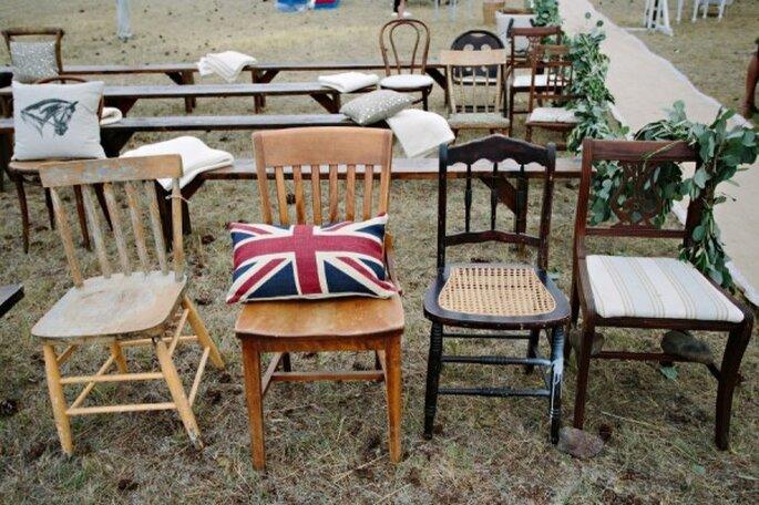 Mobiliario con diseño original para decorar boda - Foto Green Door Photography
