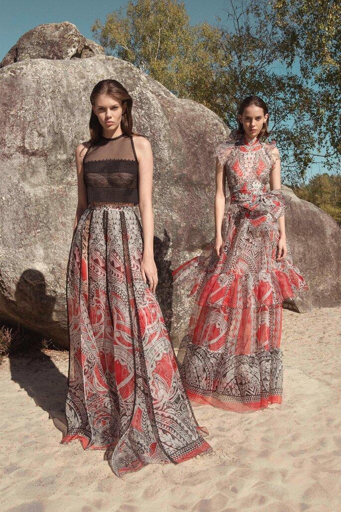 vestidos de fiesta tonos mediterráneos