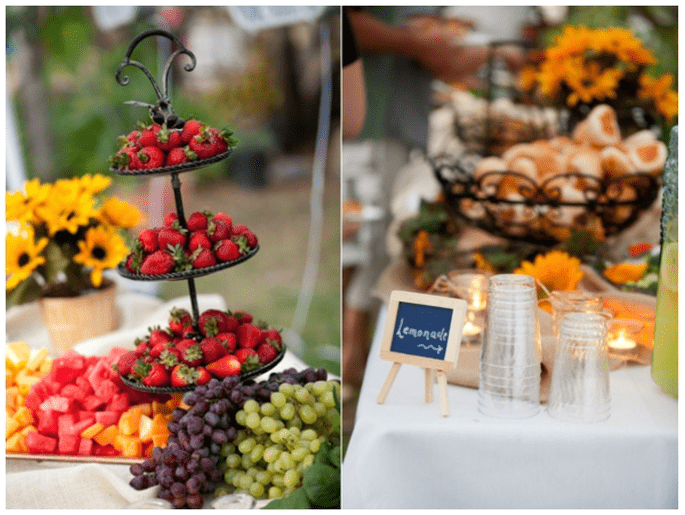 Fruits in your wedding decor - Photo: Kim J Martin Photography