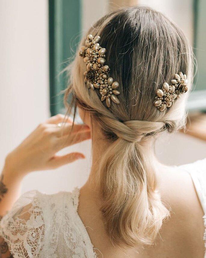 Penteado torcidinho para noivas