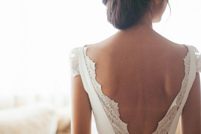 Vestido de noiva decotado nas costas