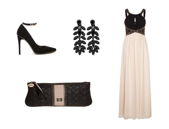 Vestito: Little Mistress, orecchini: SweetDeluxe, pochette: Guess e scarpe: Asos.
