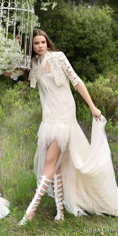 Vestido de novia estilo hippie-chic de Yolan Cris