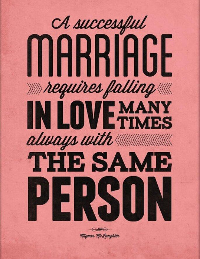 10 mensajes de amor para decorar tu boda - Foto NeueGraphic vía Etsy