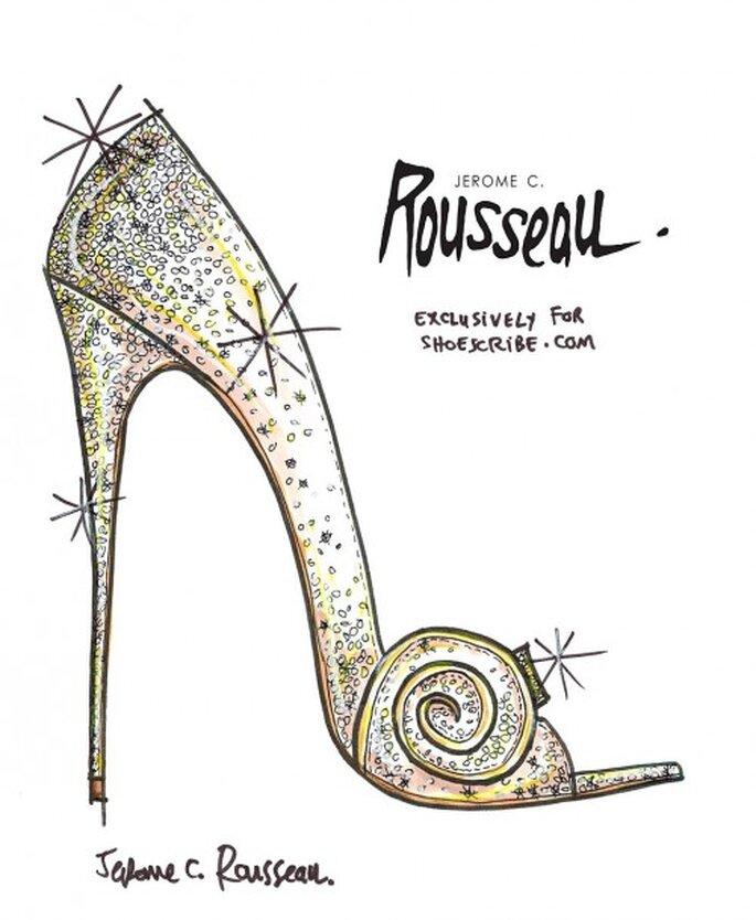 """Ilustración de la zapatilla para novia inspirada en """"Oz"""" - Foto Jerome C. Rousseau"""
