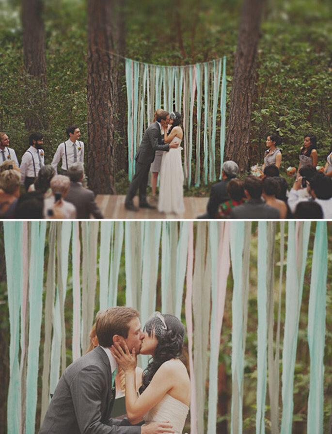 Es gibt viele Deko-Ideen für die Hochzeit am Land – Foto: stone crandall