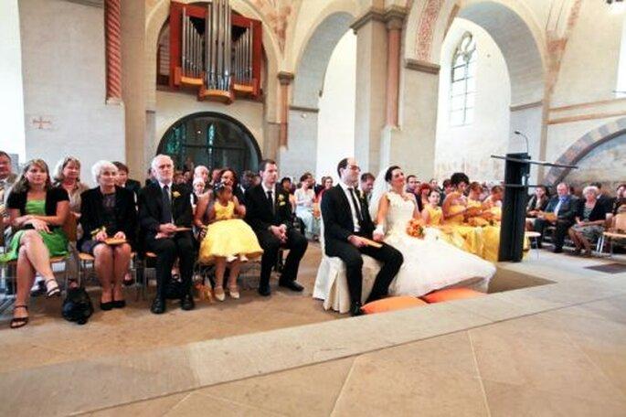 Jawort in der wunderschönen Dorfkirche in Bochum Stiepel  - Foto: Hochzeitsfotografin Corinna Vatter aus Duisburg