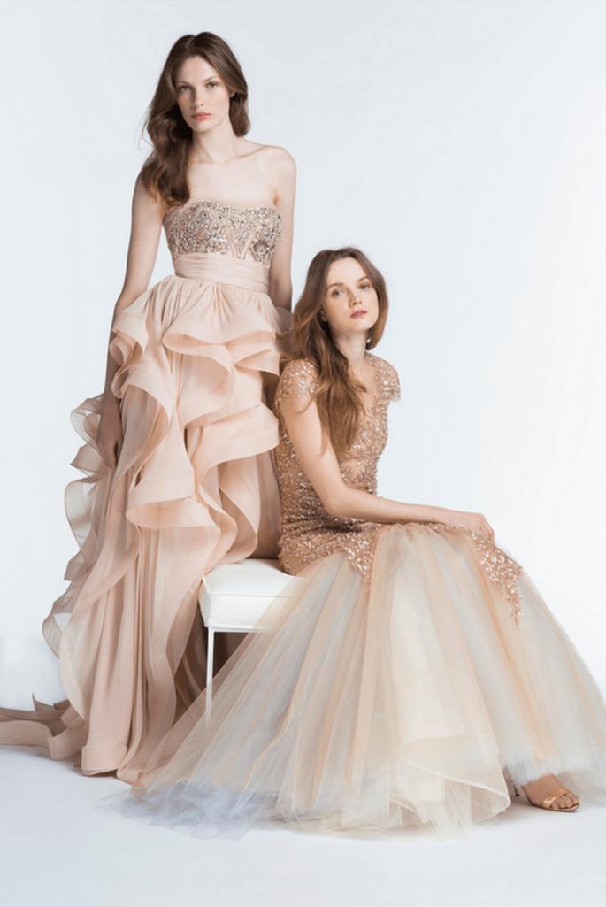 Vestidos de fiesta 2014 en color nude - Foto Reem Acra
