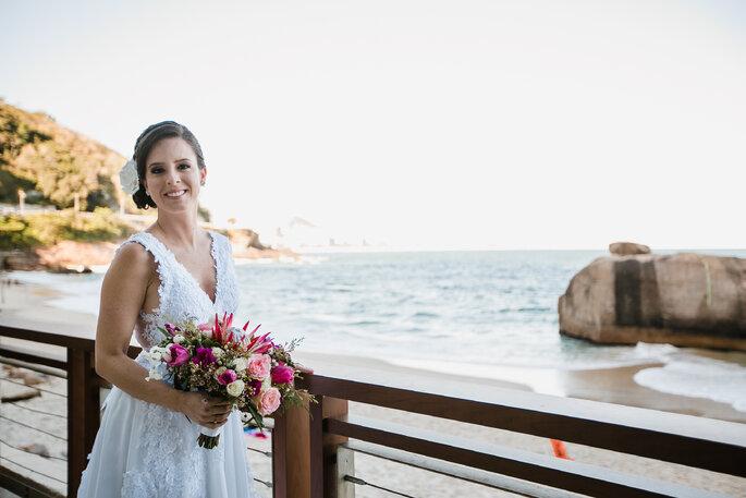 Making off noiva na praia