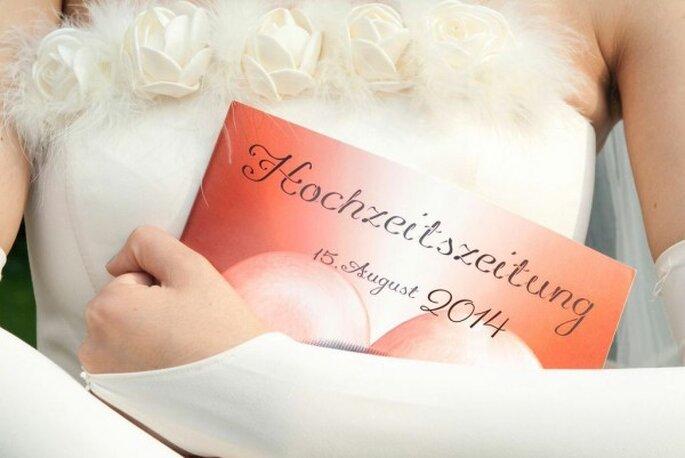 Eine Ausgabe zur Hochzeit bleibt als Erinnerung ewig bestehen - Foto: Schobuk.com