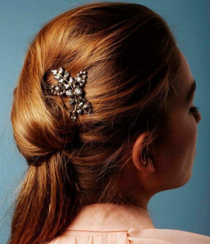 Accesorios para un peinado de novia DIY - Foto Jennifer Behr Facebook