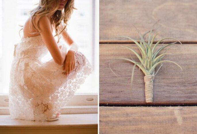 Optá por plantas del aire para tu ramo de novia - Foto: Green wedding shoes
