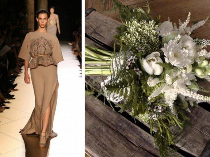 Un ramo de flores para cada tipo de novia - Fotos: Elie Saab y Elizabeth Blumen