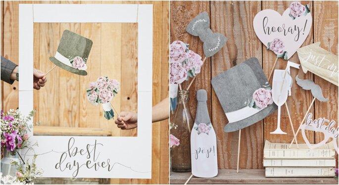 Atrezzo para decoración para bodas en jardines