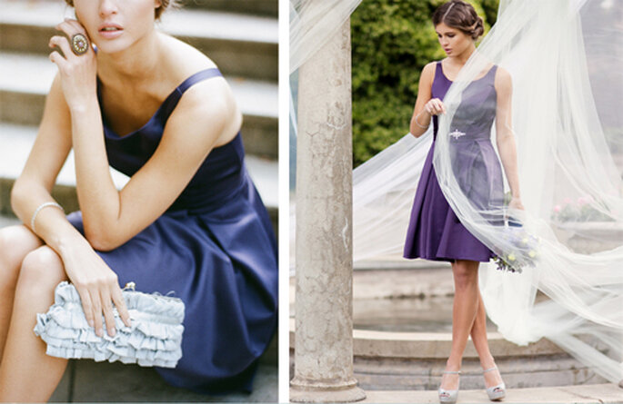 580e45ed0 guardar Vestido vintage en color morado para damas de honor - Foto  Ruche