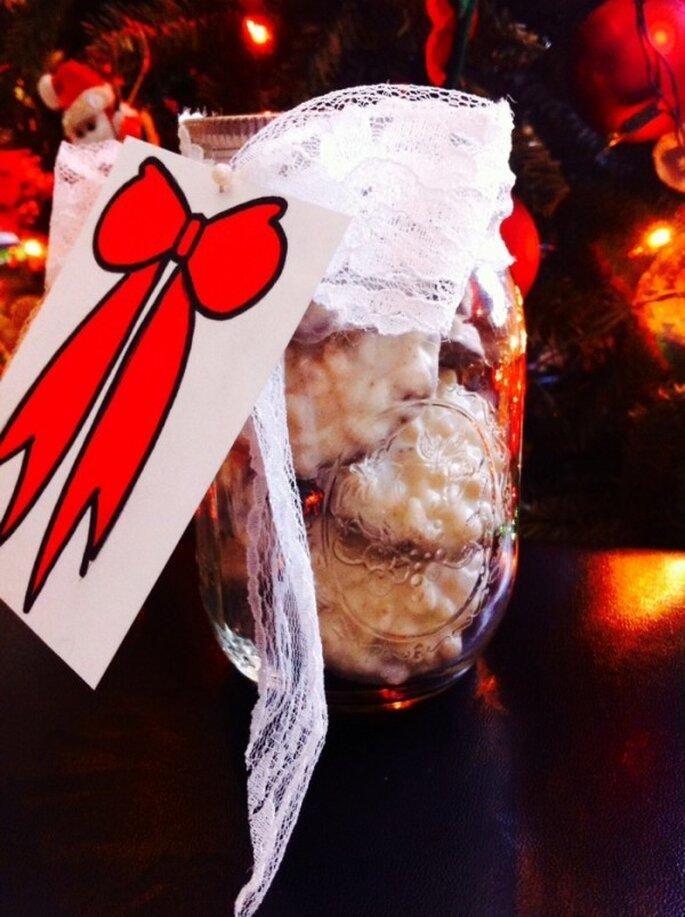DIY de Navidad: Un lindo tarro con galletas para tus invitados de boda