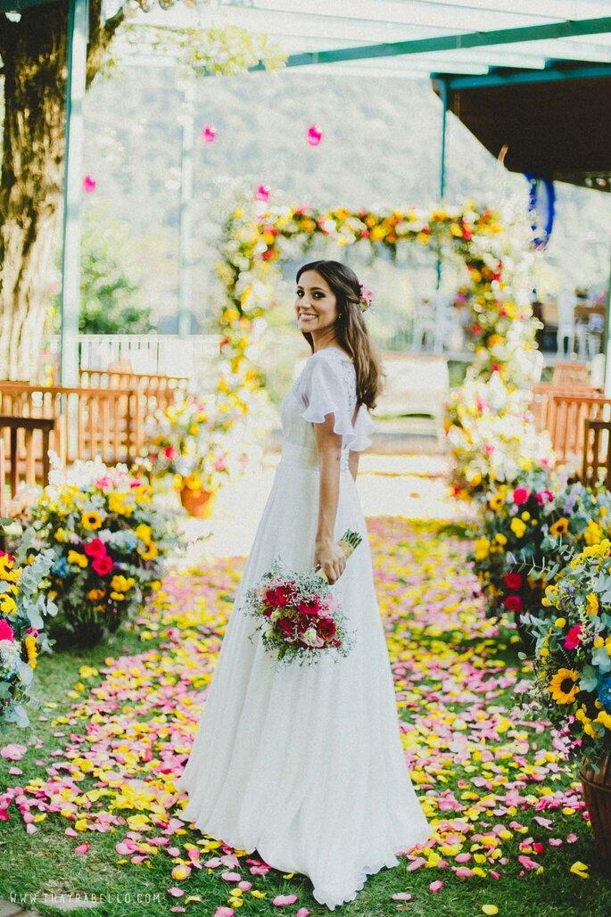 Vestido de noiva para a primavera