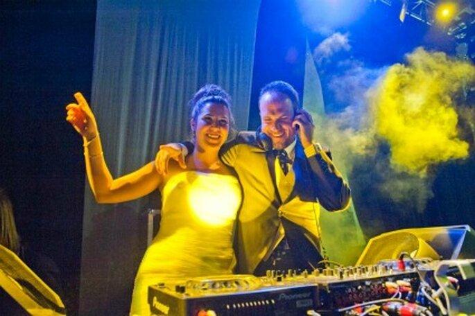 Jesús como DJ en su boda- Foto: Víctor Lax