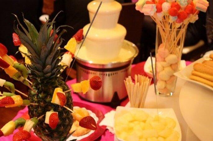 Fontaine à chocolat blanc : un régal comme dessert de mariage...