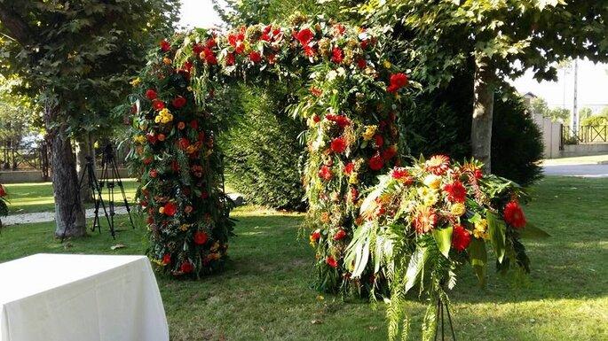 Arco floral ceremonia