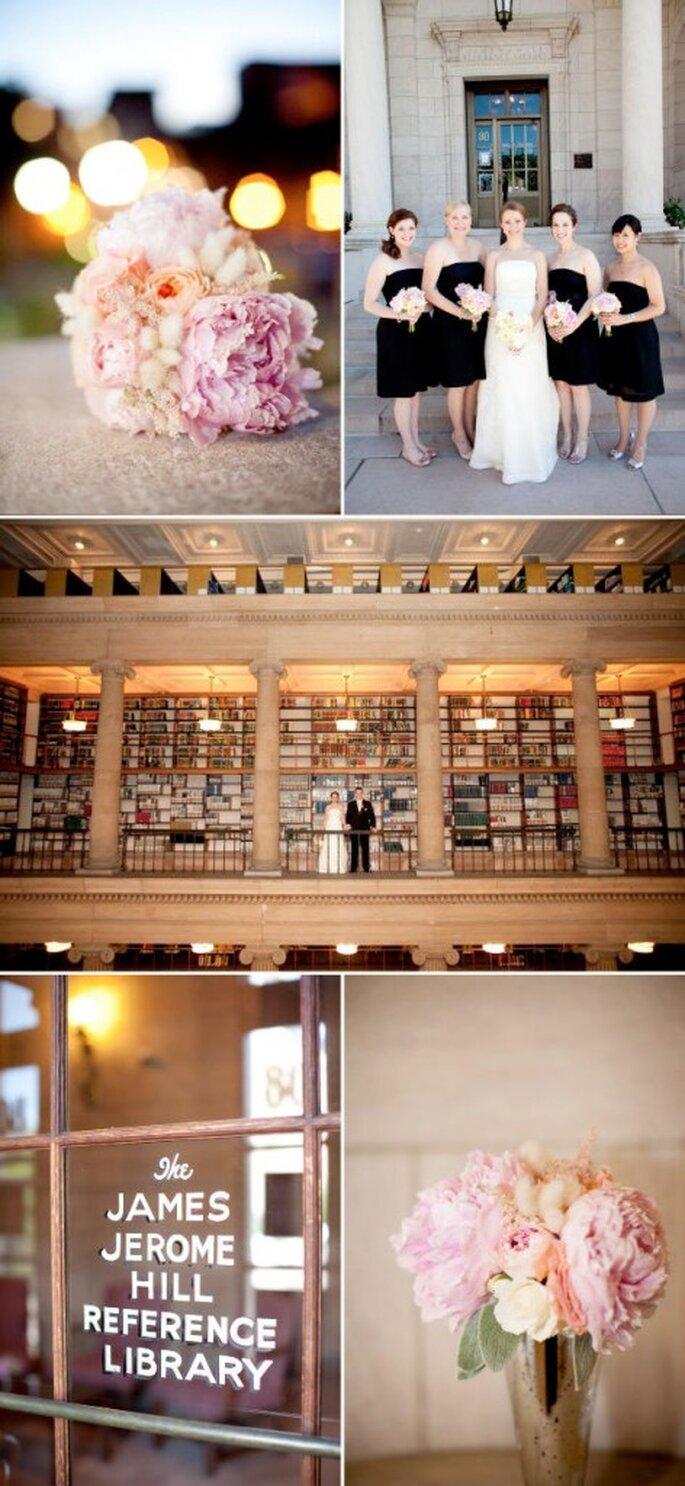 Casar numa biblioteca - Fotografias de  Laura Ivanova