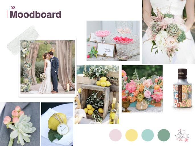Matrimonio tonalità colori vivaci