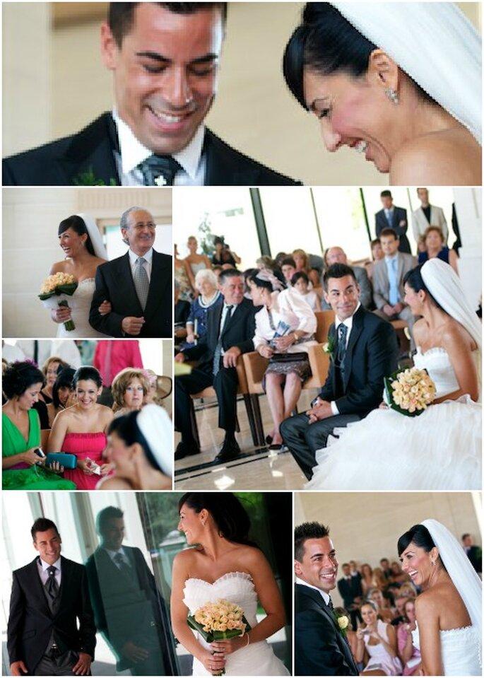 Los novios escogieron el hotel Las Arenas para celebrar tanto la boda civil como el banquete. Foto: StudioBoda