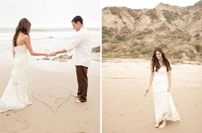 Katy et Chad : mariage rustique à la plage