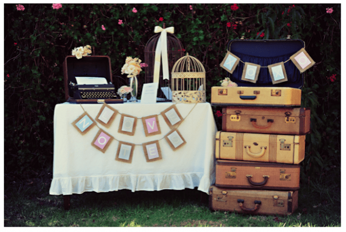 Decoración original para una boda vintage y en tendencia - Foto Jessica Fajardo